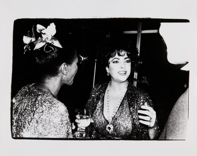 Andy Warhol, 'Andy Warhol, Photograph of Elizabeth Taylor with an Unidentified Couple, 1981', 1981, Hedges Projects