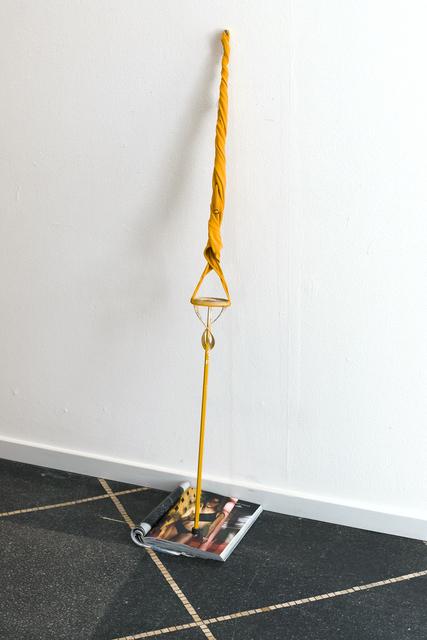 Nanna Abell, 'Flâneur Forever', Sculpture, Swim suit, concrete mixer, magazine, Galleri Susanne Ottesen