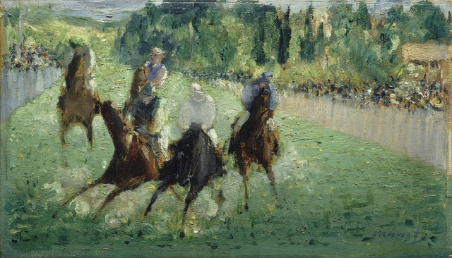 Édouard Manet, 'At the Races', ca. 1875, National Gallery of Art, Washington, D.C.