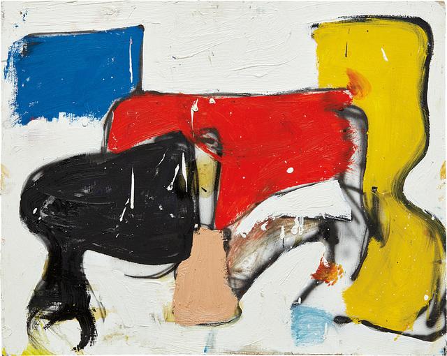 Eddie Martinez, 'Untitled (Matador Series)', 2013, Painting, Oil, spray paint and enamel on panel, Phillips