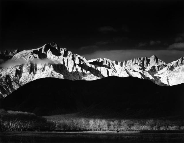 Ansel Adams, 'Winter Sunrise, Sierra Nevada, from Lone Pine', 1944, Weston Gallery