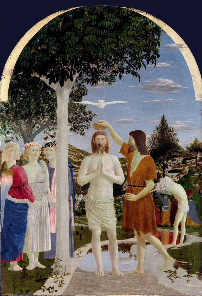 Piero Della Francesca, 'The Baptism of Christ,' ca. 1450, The National Gallery, London