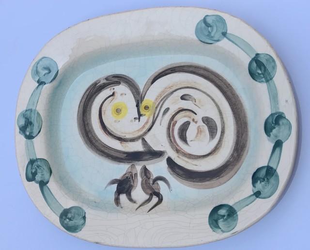 Pablo Picasso, 'Wood-owl (A.R. 48)', 1948, Design/Decorative Art, White earthenware clay, decoration in oxides under glaze, Invertirenarte.es