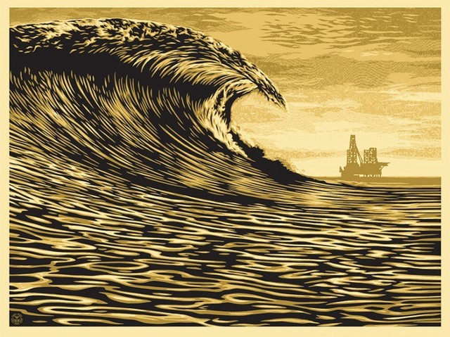 Shepard Fairey, 'Slick New Wave', 2014, Black Book Gallery