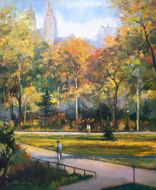 , 'Autumn Afternoon Walk,' 2006, Madelyn Jordon Fine Art