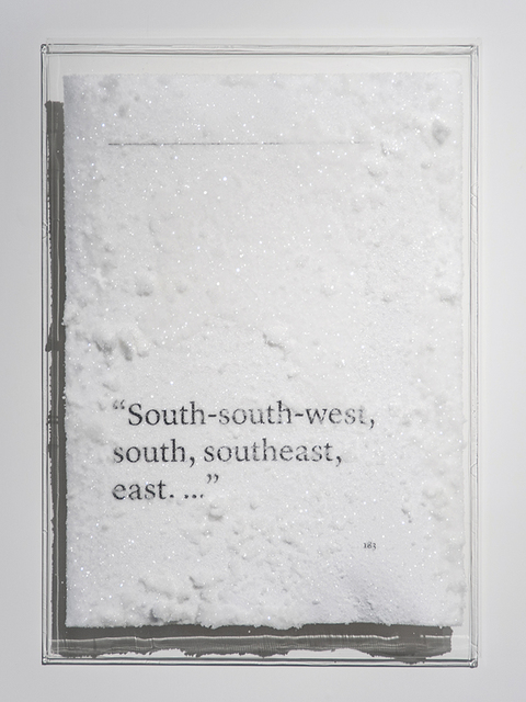 ", '""South-south-west, south, southeast, east. ..."",' 2016, Blindspot Gallery"