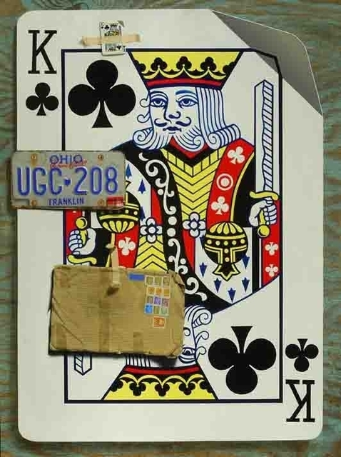 Patrick Kirwin, 'King of Clubs', Painting, Trompe l'oeil - Acrylic on Mylar, Zenith Gallery