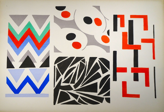 """Sonia Delaunay, 'Plate n.4 from """"Ses peintures, ses objets, ses tissus simultanés, ses modes""""', 1925, Wallector"""