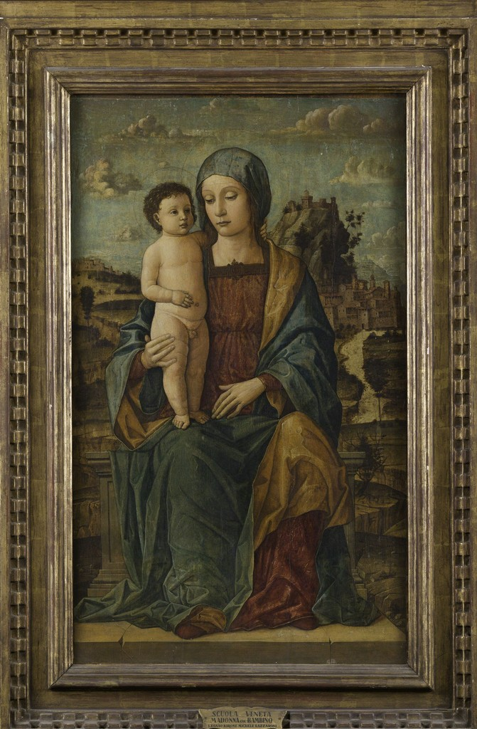 Venice school, Madonna con Bambino, 46 x cm. 74,5