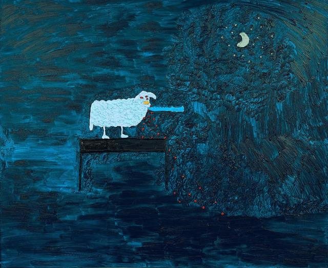 , 'Blue Sheep,' 2016, Nicodim Gallery