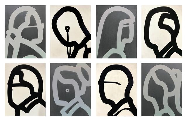 Julian Opie, 'STONE HEADS PORTFOLIO', 2018, Gallery Art