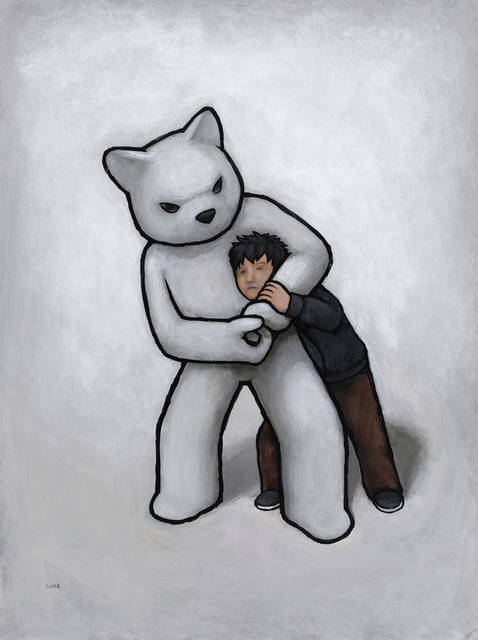 Luke Chueh, 'Wrestling (with Myself) - Headlock', 2019, Corey Helford Gallery