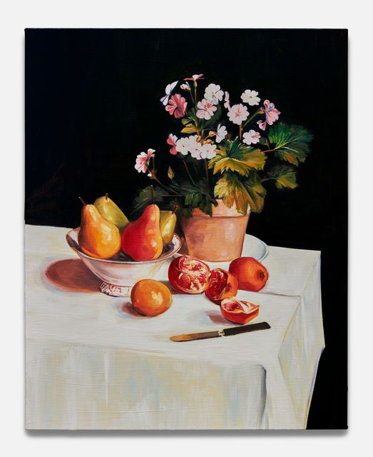 , 'Still Life with Primroses, Pears and Promenates (after Fantin-Latour),' 2018, Almine Rech