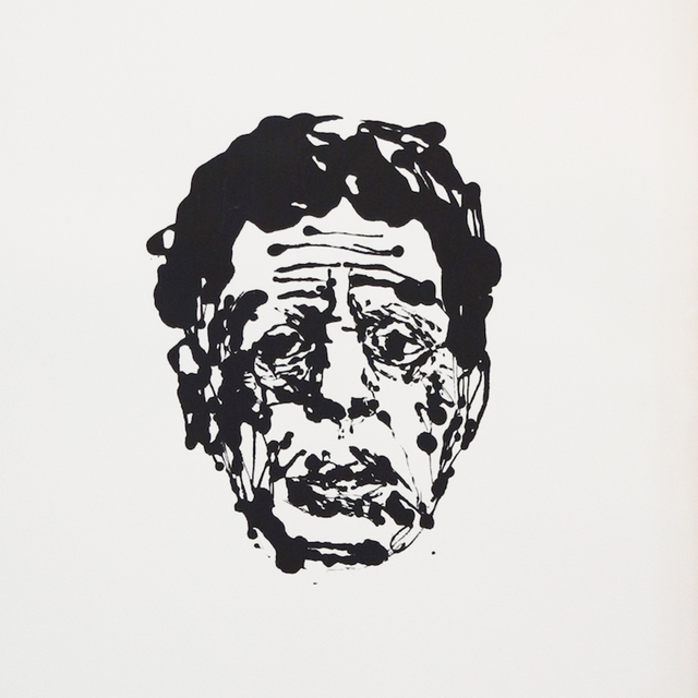 , ' Blue Glass (Portrait of Philip Glass),' 2012, Tappan