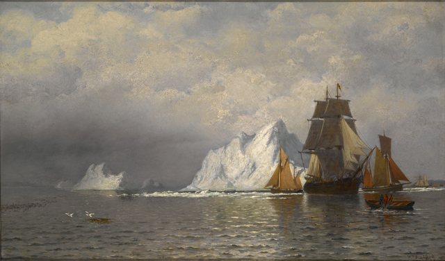 William Bradford, 'Whaler and Fishing Vessels near the Coast of Labrador', ca. 1880, Indianapolis Museum of Art at Newfields