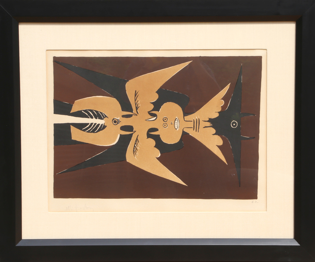 Wifredo Lam, 'Embleme', 1952, Print, Lithograph, RoGallery