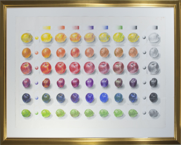 , 'Six Fruits in Colored Pencil,' 2013, David Barnett Gallery