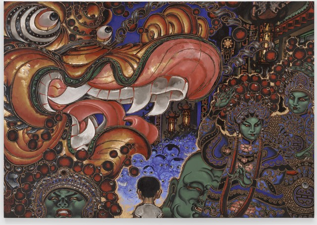 Martin Wong, 'Chinese New Year's Parade', 1992-1994, Painting, Oil on linen, San Francisco Museum of Modern Art (SFMOMA)