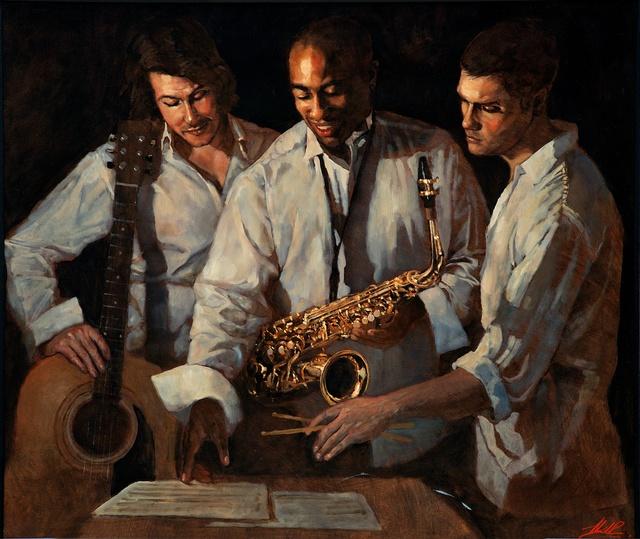 , 'Jazz Trio ,' , Great Banyan Art