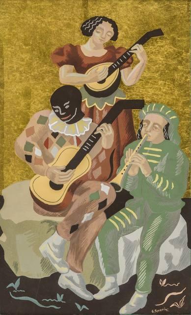 Gino Severini, 'Fleurs et masques: le concert', 1930, ArtRite