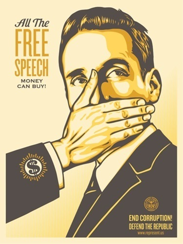 """Shepard Fairey (OBEY), 'Pay Up Or Shut Up Campaign Edition """"Yellow Variant""""', 2015, New Union Gallery"""
