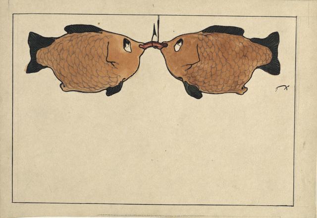 , 'Sans Titre (Deux poissons, un hameçon, un ver),' 1901, Centre Pompidou