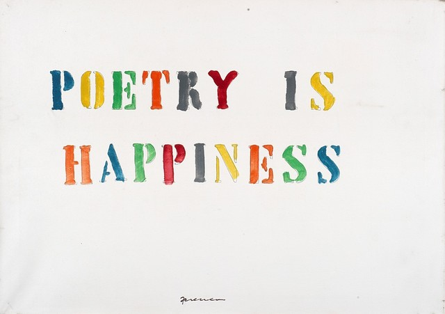Mabellini Isaia Sarenco, 'Poetry is happiness', Finarte