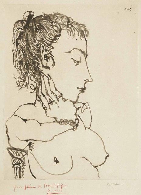 Pablo Picasso, 'Buste de femme à la queue de cheval: Jacqueline', 1955, Christie's