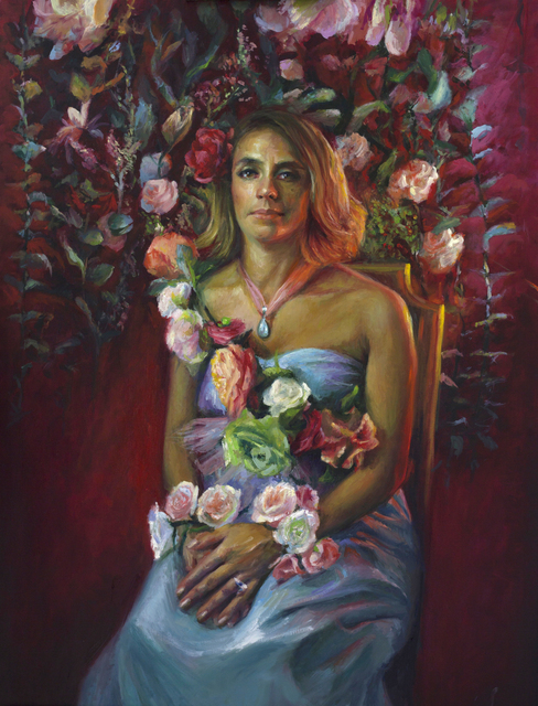 , 'When she blossoms, she is fire,' 2018, Gallery at Zhou B Art Center