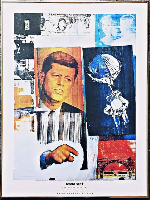 Robert Rauschenberg, 'Pop Art: Rare Vintage Poster published by the Royal Academy of Arts (UK)', 1991, Posters, Offset lithograph poster. framed., Alpha 137 Gallery Gallery Auction