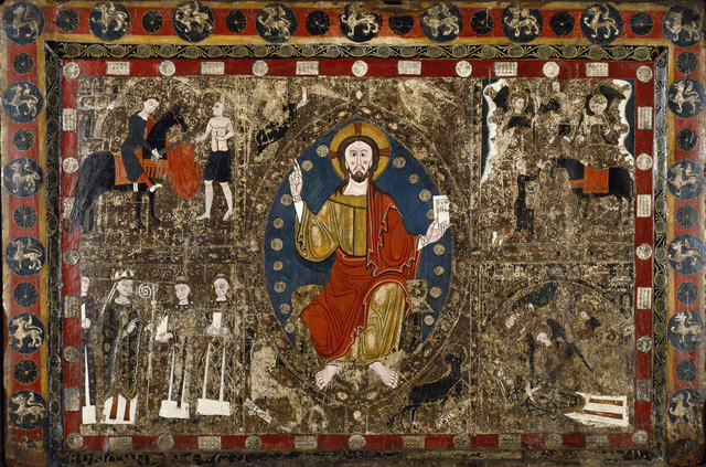 'Altar Frontal with Christ in Majesty and the Life of Saint Martin', 1250, Walters Art Museum