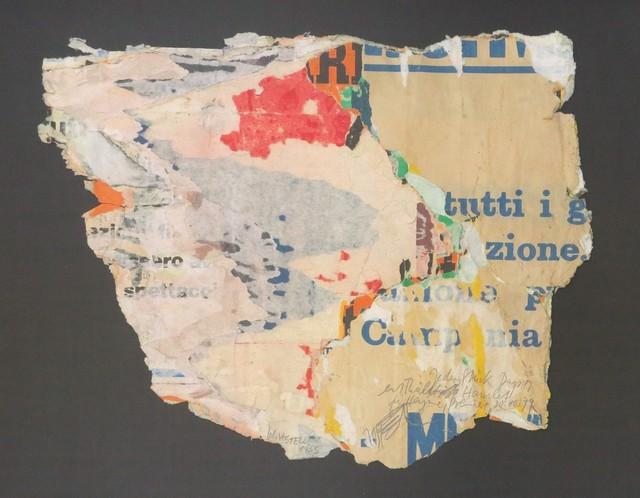 Wolf Vostell, 'tutti', 1955, Galerie Thomas