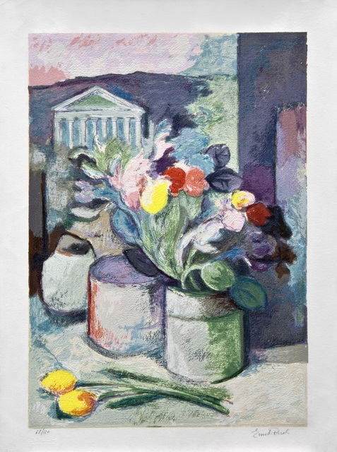 , 'Fiori nel tempio / Flowers in the temple,' ca. 1990, Galleria Edarcom Europa