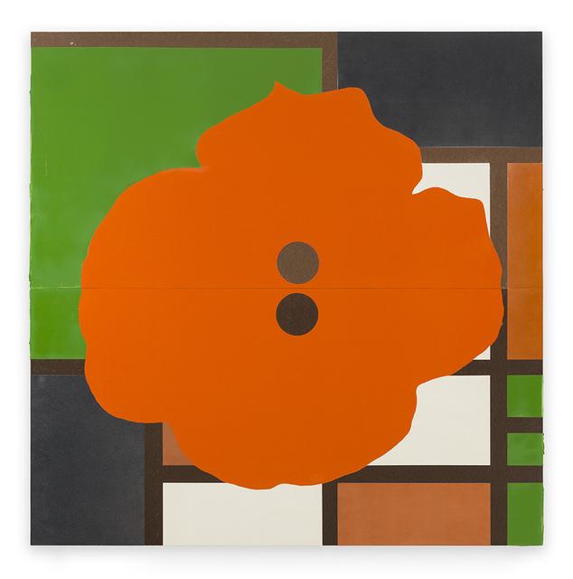 Donald Sultan, 'Orange Button December 17 2015', 2015, Serge Sorokko Gallery