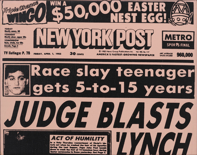 Andy Warhol, 'New York Post Front Page (Easter)', 1983, Gagosian