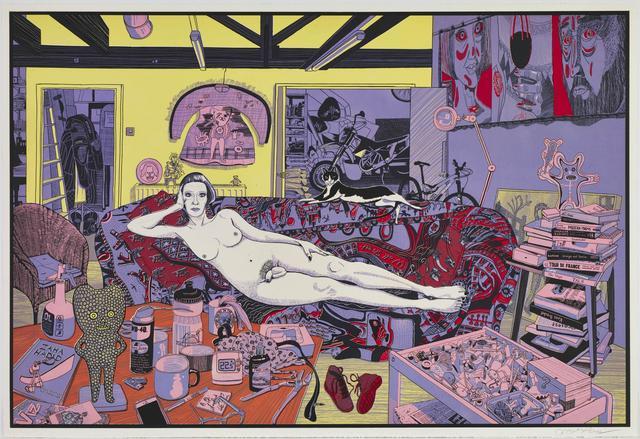 , 'Reclining Artist,' 2017, Galerie Maximillian