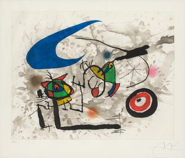 Joan Miró, 'PYGMÉES SOUS LA LUNE (D. 562)', 1972, Doyle