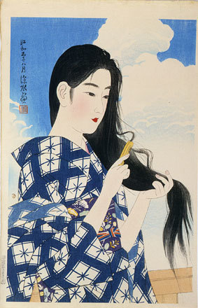 , 'The Second Collection of Modern Beauties: After Washing her Hair,' 1936, Scholten Japanese Art