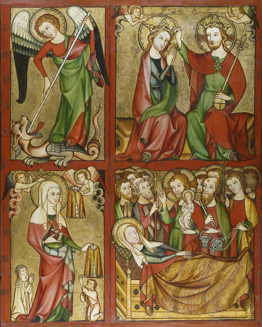 , 'Altenberg Altar (right wing): St. Michael, Coronation of the Virgin, St. Elizabeth, Death of the Virgin,' ca. 1330, Städel Museum