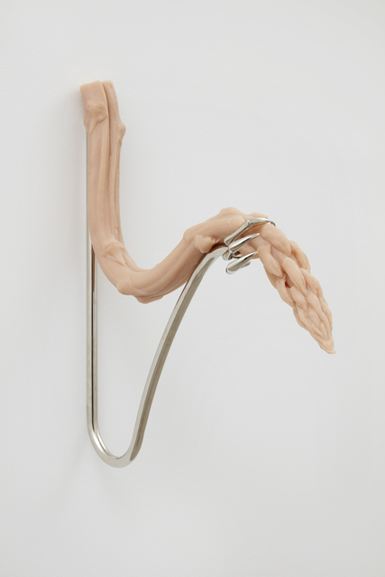 Hannah Levy, 'Untitled', 2019, Sculpture, Nickel-plated steel, silicone, Casey Kaplan