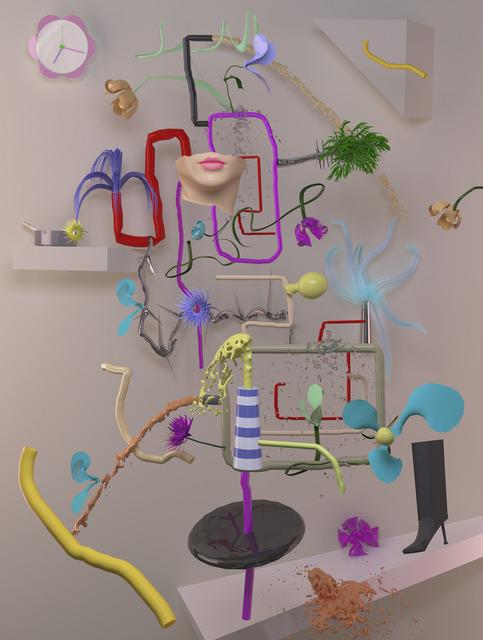 , 'Still Life with Clock,' 2012, Upfor