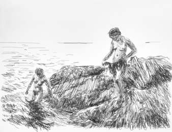 Seaward Skerries, after Anders Zorn (Pictures of Wire)
