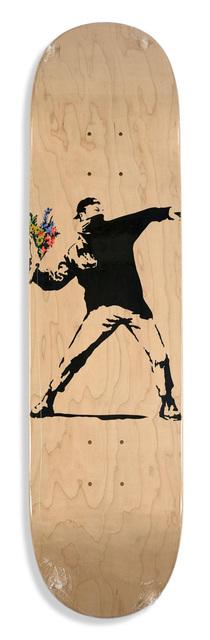 Banksy, 'Flower Thrower skate deck', 2016, EHC Fine Art Gallery Auction