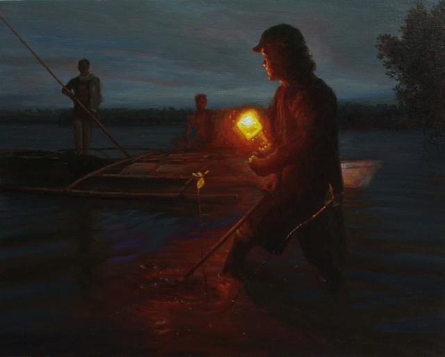 , 'Night Fishing,' 2016, Qube Gallery