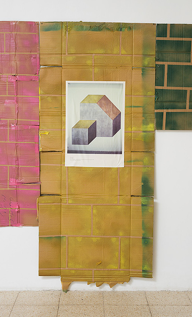 , 'Poster of Sol Lewitt wall painting A. Untitled pasted onto wall painting ,' 2015, Dvir Gallery