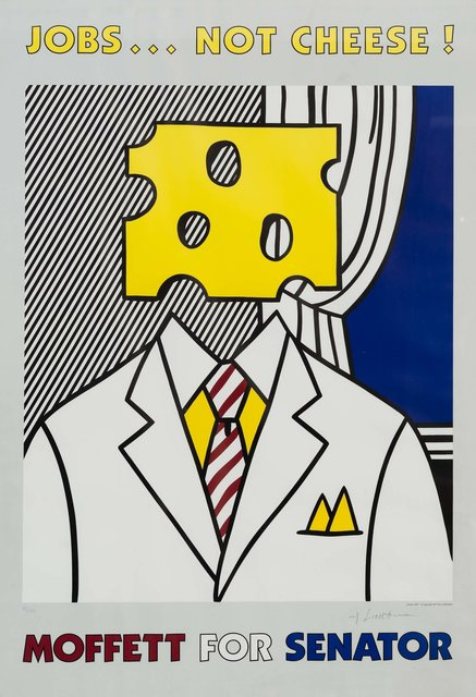 Roy Lichtenstein, 'Jobs... Not Cheese!', 1982, Print, Offset lithograph, Heritage Auctions