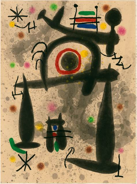 Joan Miró, 'Le Miroir de l'Homme par les Bêtes', 1972, Print, Colour etching and aquatint, Koller Auctions