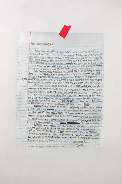 , 'Dear Copenhagen,' 2015, Gallery Poulsen