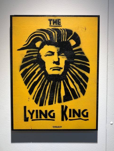 TABBY, 'The Lying King', 2018, Landmark Street Art