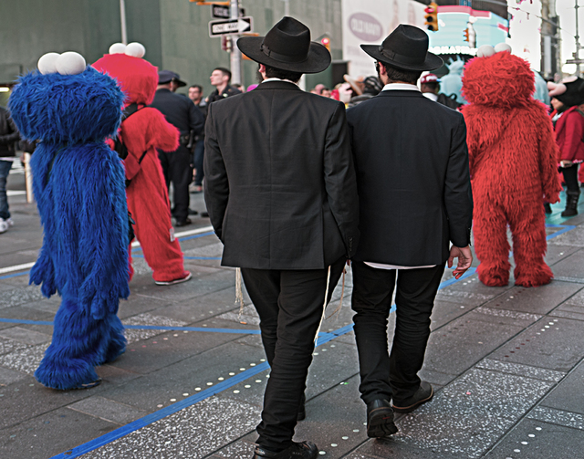 , 'Hassidic Men And Sesame Characters,' , Soho Photo Gallery